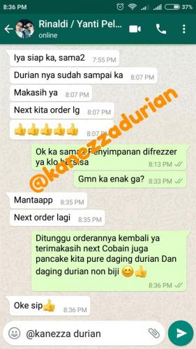Testimonial Pelanggan Kanezza Durian
